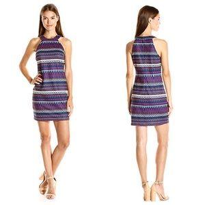 NWT Trina Trina Turk Navy Sleeveless Dress Size S